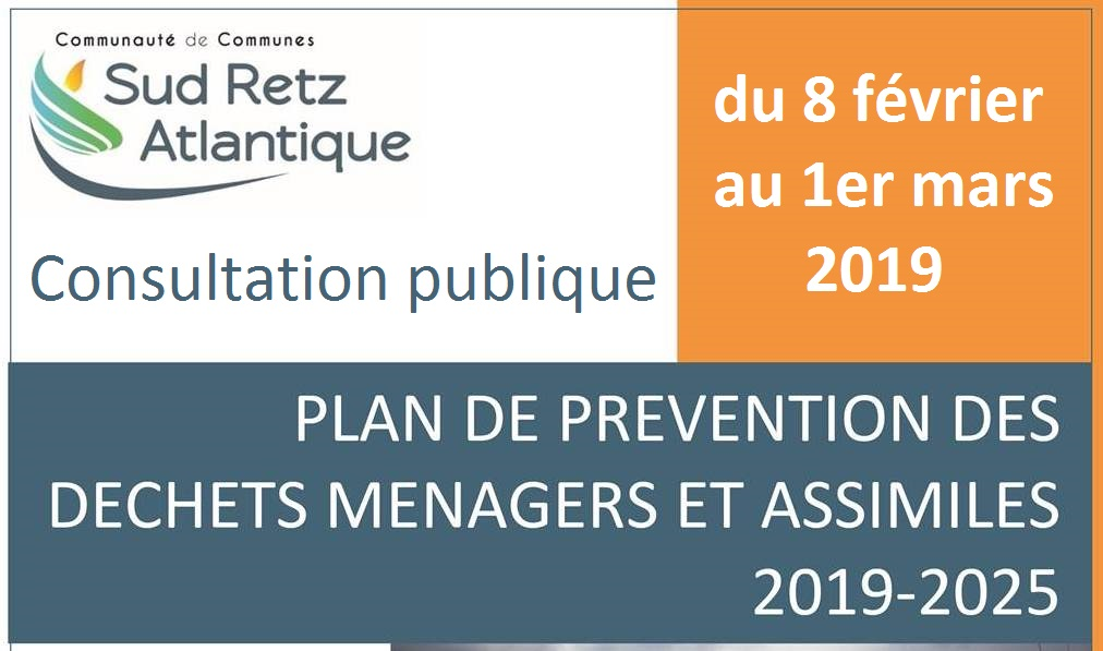 Plan Local de Prevention des Dechets information relative a la consultation publique